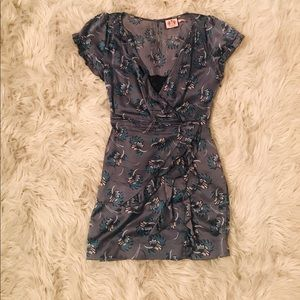 Juicy Couture silk summer dress with black lace.